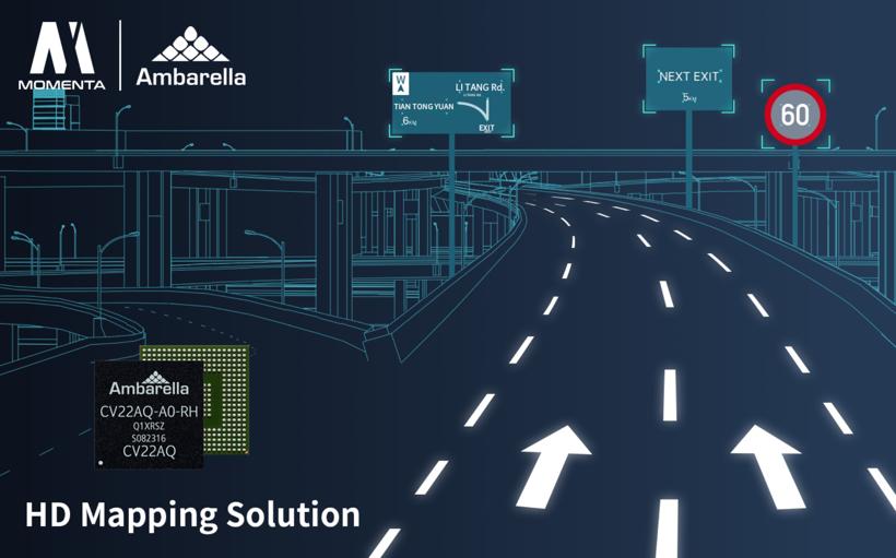 安霸合作Momenta 为自动驾驶汽车研发高精地图平台