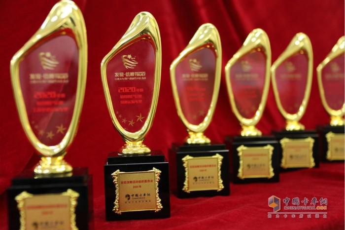 2020年度TCO运营值得用户信赖获奖产品奖杯